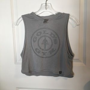 Gymshark x Goldsgym grey crop top